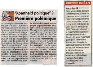 L'Echo de la Presqu'île, 13/12/2013 Presse Océan, 13/12/2013